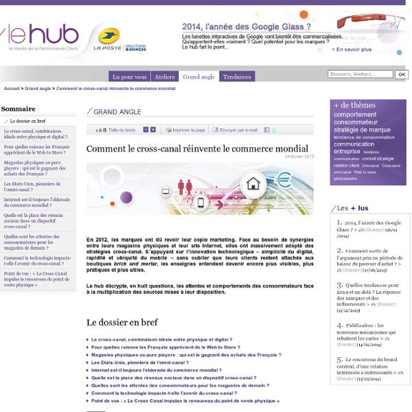 Comment le cross-canal réinvente le commerce mondial - tendance marketing, tendance communication, veille marketing, veille communication, conseil stratégie relation client - La Poste -/le hub -