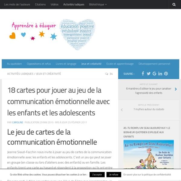Le jeu de la communication émotionnelle avec les enfants
