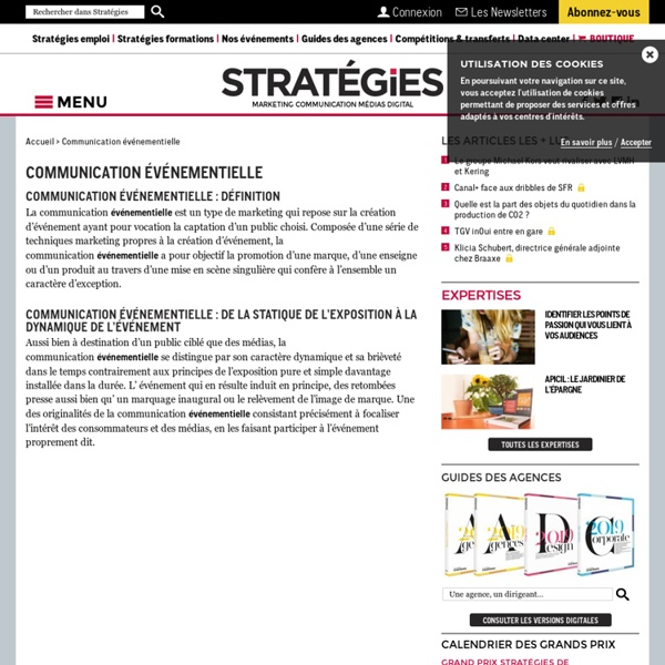 Communication événementielle - Stratégies