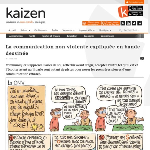 La communication non-violente expliquée en bande dessinée
