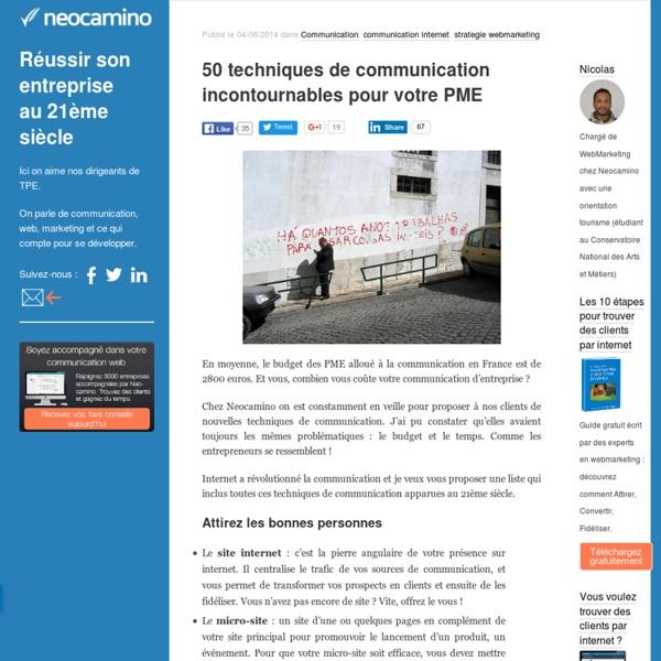 50 techniques de communication incontournables pour votre PME par Neocamino