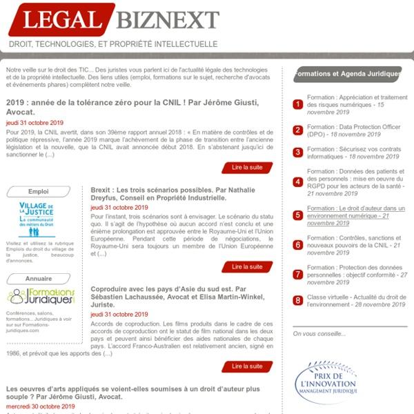 Droit des TIC (technologies de l'information et de la communication) et de la PI (propriété intellectuelle)