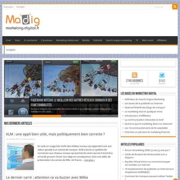 Madig - Marketing Digital : le blog du marketing Internet et de la communication interactive