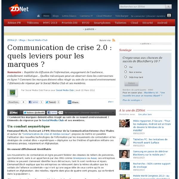 Communication de crise 2.0 : quels leviers pour les marques ?