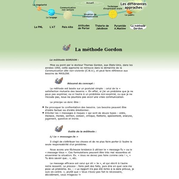 Communication orale - La méthode Gordon