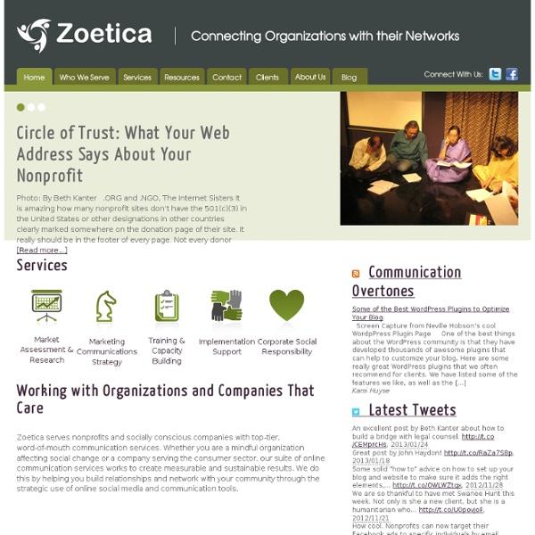 Zoetica Media - Communication Services for Nonprofits & Social Good