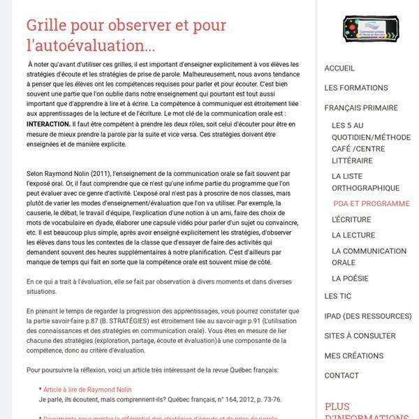 La communication orale - Site de espacecp !