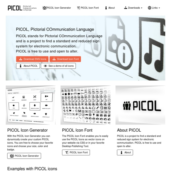 PICOL - Pictorial Communication Language - Icons & Pictorgrams