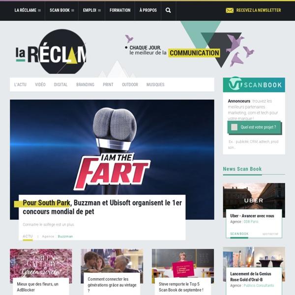 La Réclame : chaque jour, le meilleur de la communication. Publicités, digital, spots TV, musiques de pubs, prints, outdoor et branding.