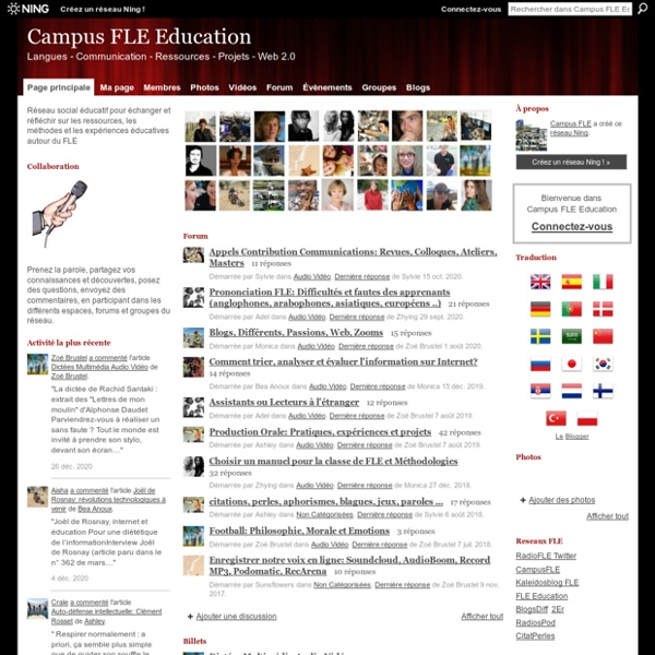 Campus FLE Education - Langues - Communication - Ressources - Projets - Web 2.0