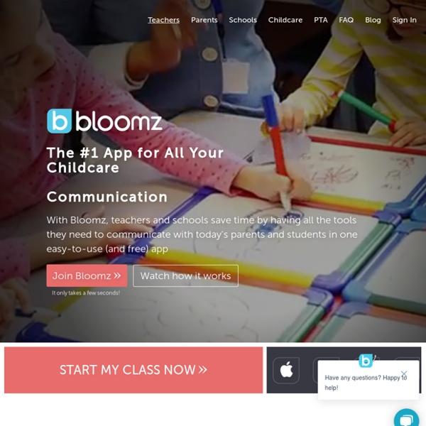 Bloomz - Teacher Parent Communications App
