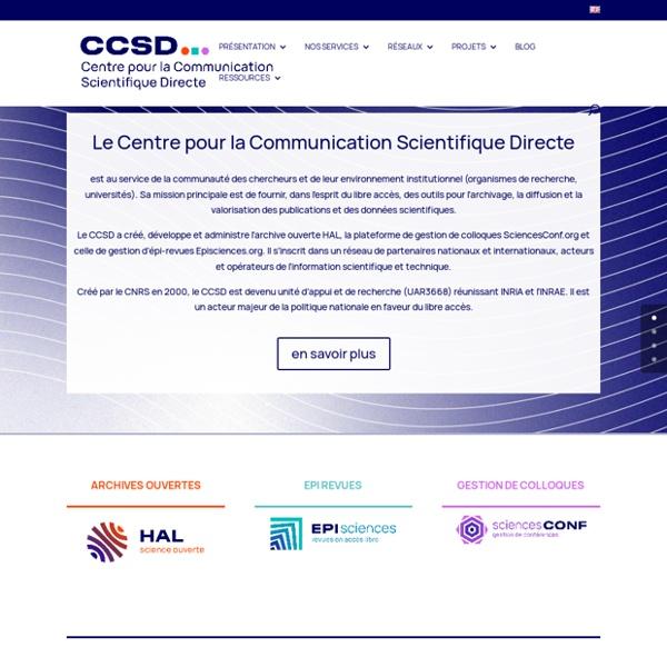CCSD - Centre pour la Communication Scientifique Directe