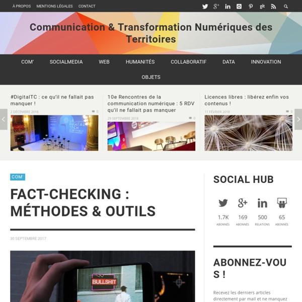 Fact-Checking : méthodes & outils - Communication & Transformation Numériques des Territoires