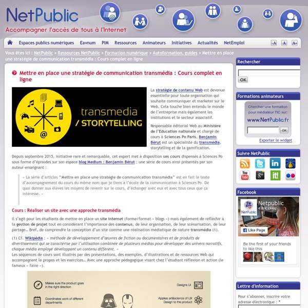Mettre en place une stratégie de communication transmédia : Cours complet en ligne