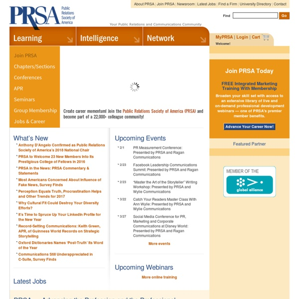Public Relations Resources & PR Tools for Communications Professionals: Public Relations Society of America (PRSA)