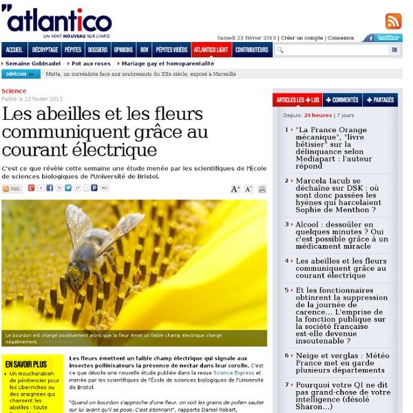 Les abeilles et les fleurs communiquent grâce au courant électrique