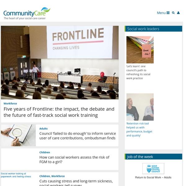 Social Work News & Social Care Jobs