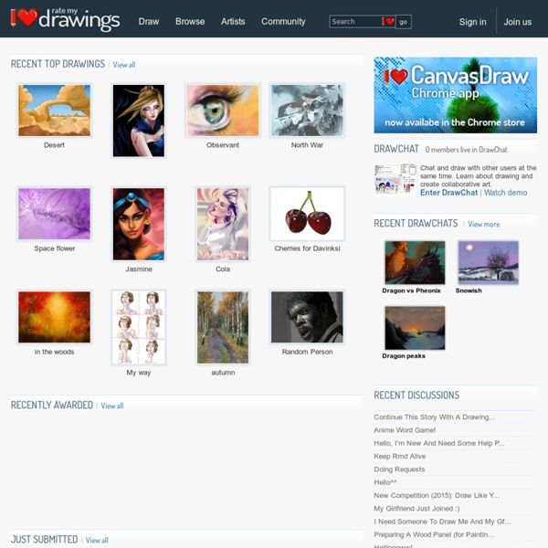 Online drawing community - draw online, DrawChat, competitions and tutorials