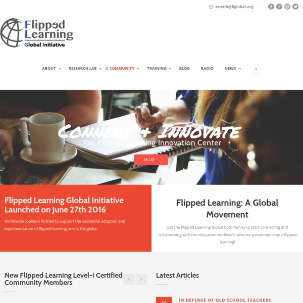 Flipped Learning Network Ning - A professional learning community for teachers using screencasting in education.