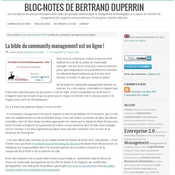 La bible du community management est en ligne !