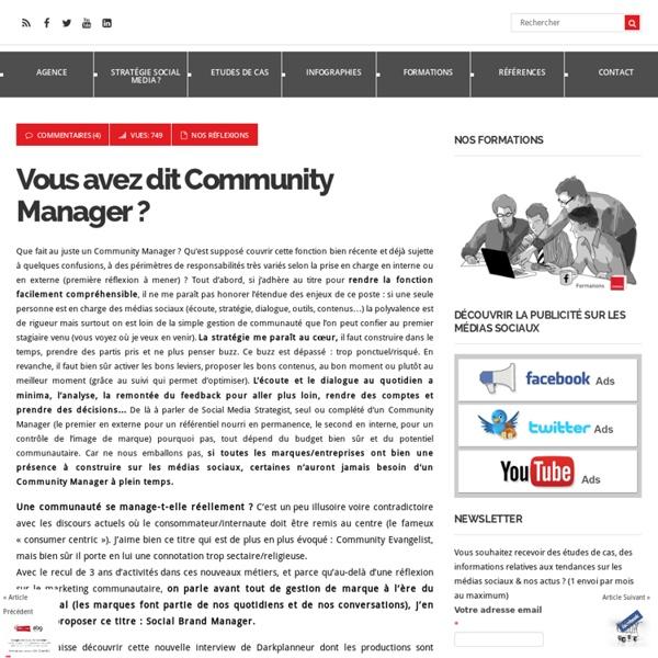 Vous avez dit Community Manager ?