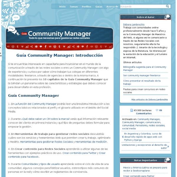 Guía Community Manager: Introducción