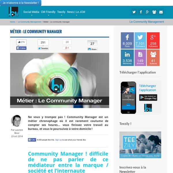 Métier : Le community manager