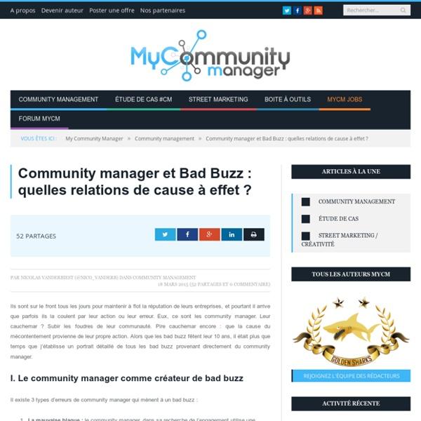 Community manager et Bad Buzz : quelles relations de cause à effet