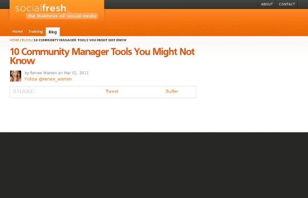 10 Community Manager Tools You Might Not Know