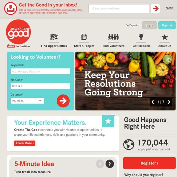 Create The Good: Community Service, Volunteering & Charity Work - AARP
