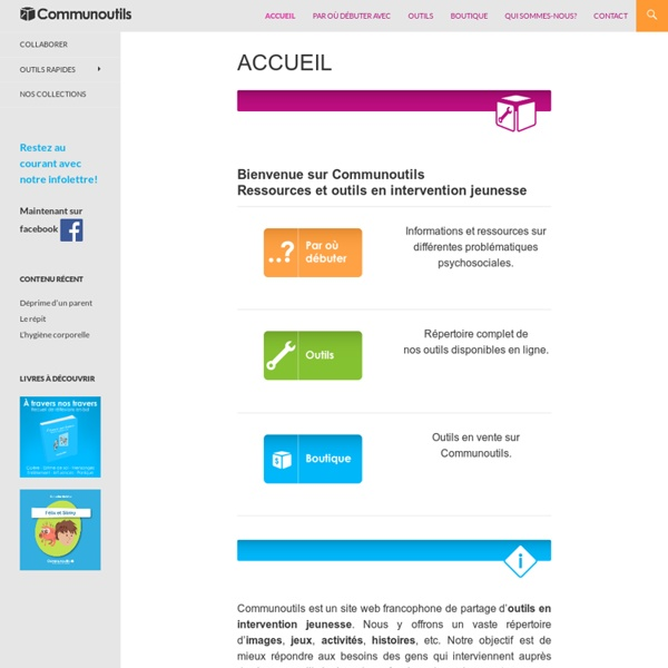 Communoutils - Ressources et outils en intervention jeunesse
