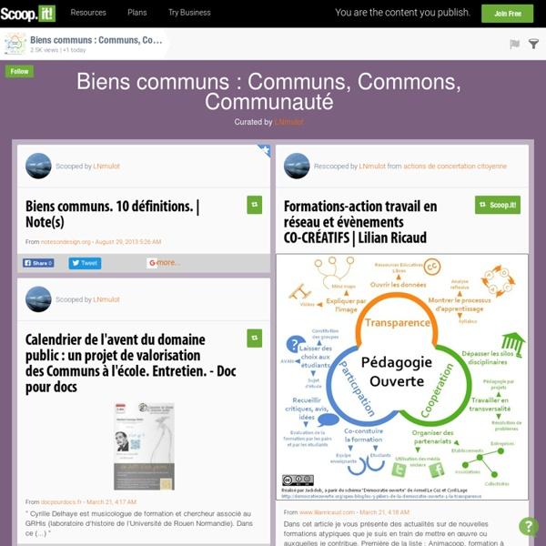 Biens communs : Commun, Commons, Communauté