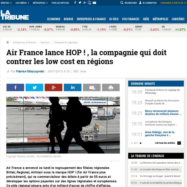 Air France (Air France-KLM) lance HOP !, la compagnie qui doit contrer les low cost en régions