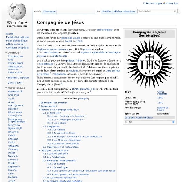 Compagnie de Jésus 1540-