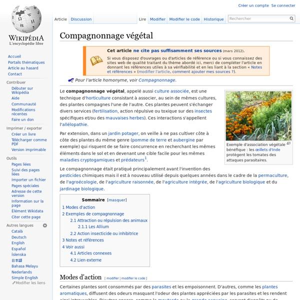 Compagnonnage végétal