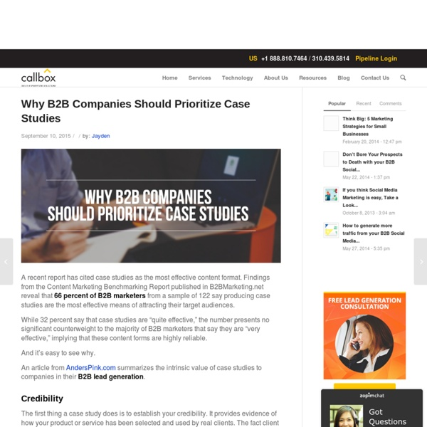 Why B2B Companies Should Prioritize Case Studies