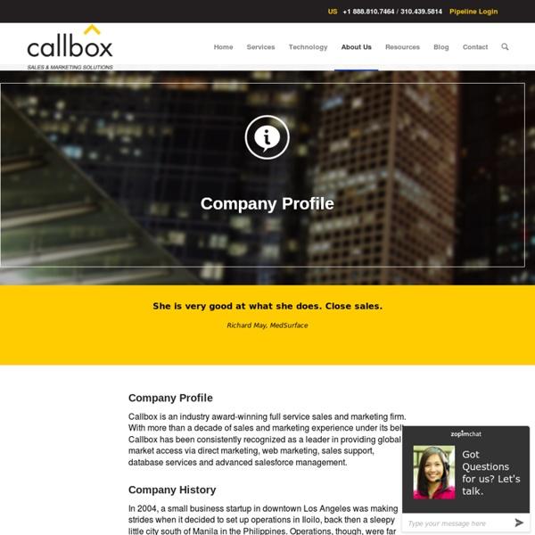 Company Profile - B2B Lead Generation Company Malaysia