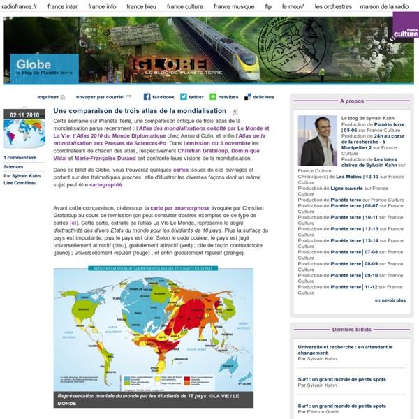 Une comparaison de trois atlas de la mondialisation - Globe