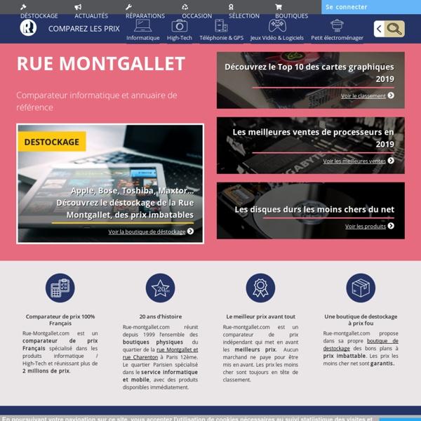 Comparateur de prix du matériel informatique - Rue-Montgallet.com