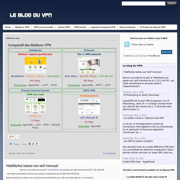 Le blog du VPN
