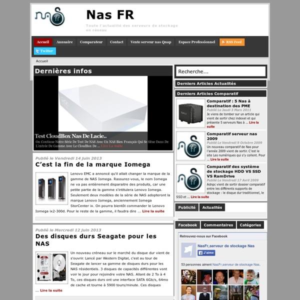 NasFr, le premier site dédié aux Nas : comparatif, tests, actualités, tutoriel