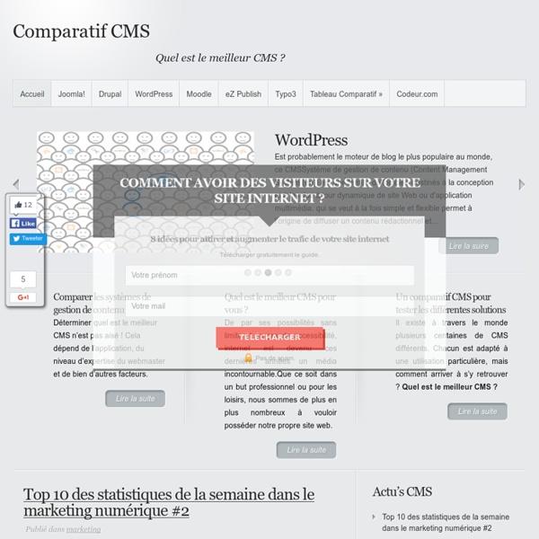 Comparatif CMS