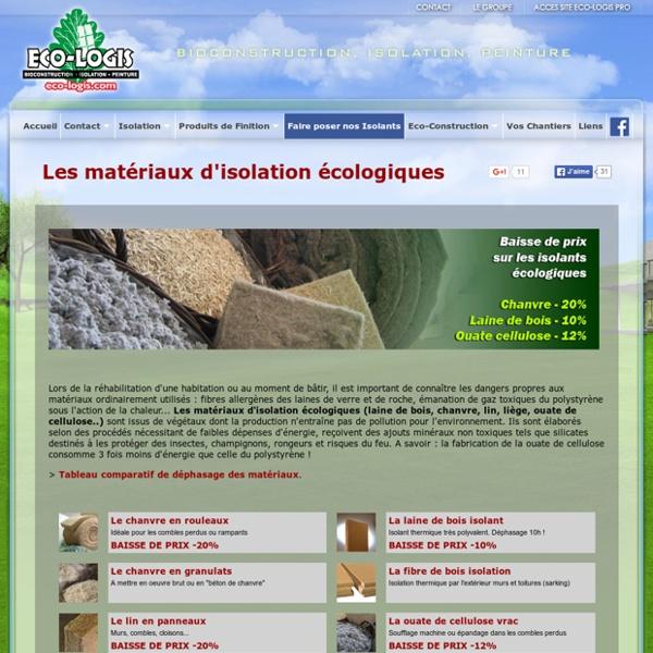 Comparatif isolants écologiques : laine de bois, ouate de cellulose, liege, chanvre, laine de mouton, lin