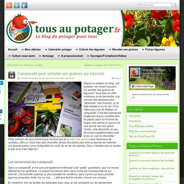 9af69a97ca2 Comparatif des meilleurs sites de vente de graines pour le potager ...