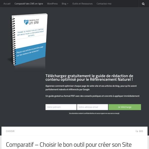 Comparatif des outils pour creer son site internet en ligne Dessine-Moi un Site