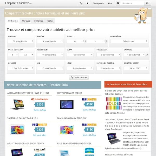 Tablette tactile - Le site de référence sur les tablettes
