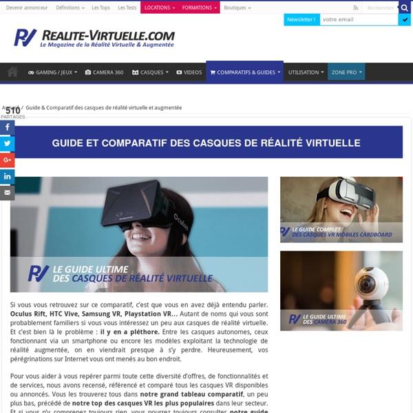 Comparatif des casques de réalité virtuelle et augmentée