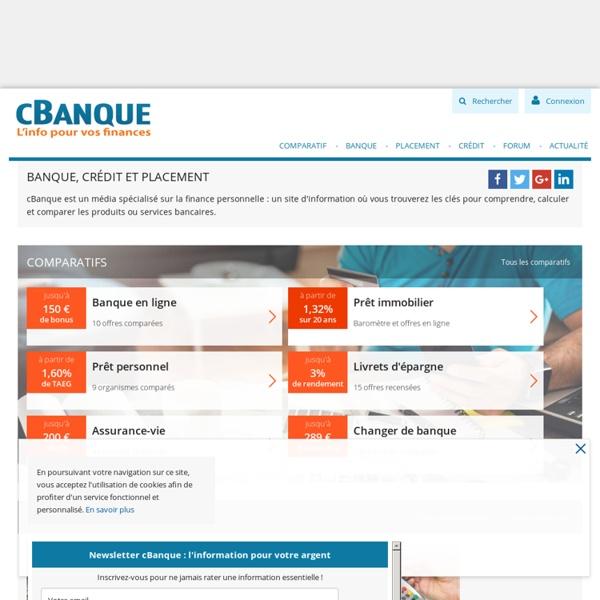 cBanque : portail d'info sur la Banque, le Crédit et l'Épargne