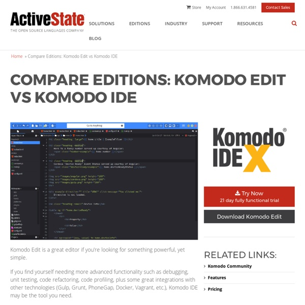 Komodo Edit is a Free Open Source Editor for Perl, Python, Tcl, PHP, Ruby & Javascript