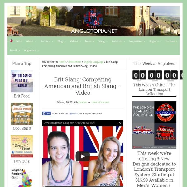 Brit Slang: Comparing American and British Slang - Video